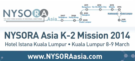 NYSORA Asia 2014. Click here to view more . . .